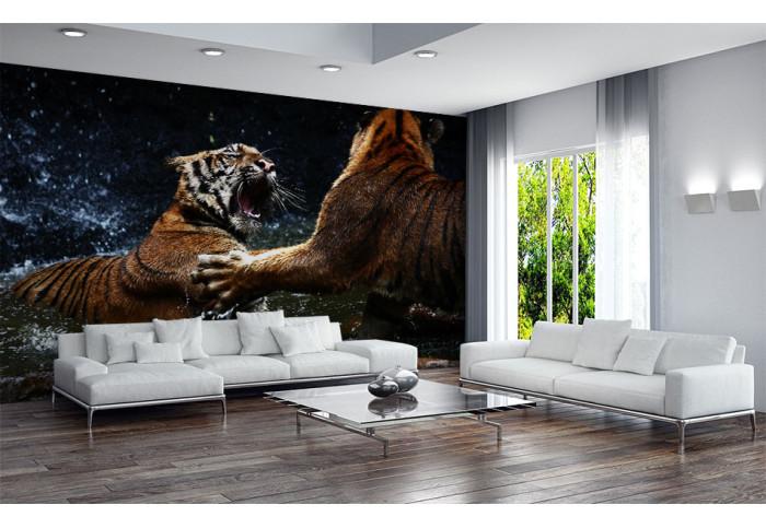 Фототапет Тигри в схватка