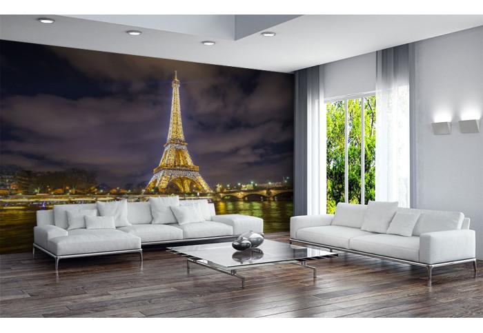 Фототапет Париж Айфеловата кула вечер