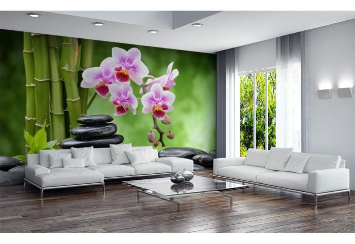 Фототапет Фън шуй камъни и орхидея