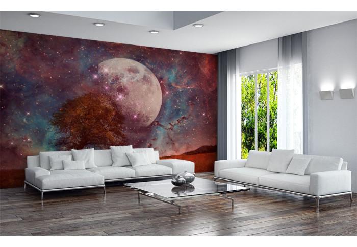 Фототапет Абстракция луна и дърво