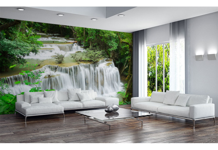 Фототапет Водопад в джунглата