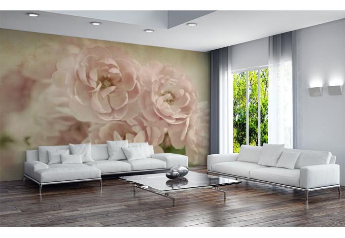 Фототапет Букет от бели рози