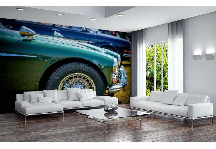 Фототапет  Зелен ретро автомобил