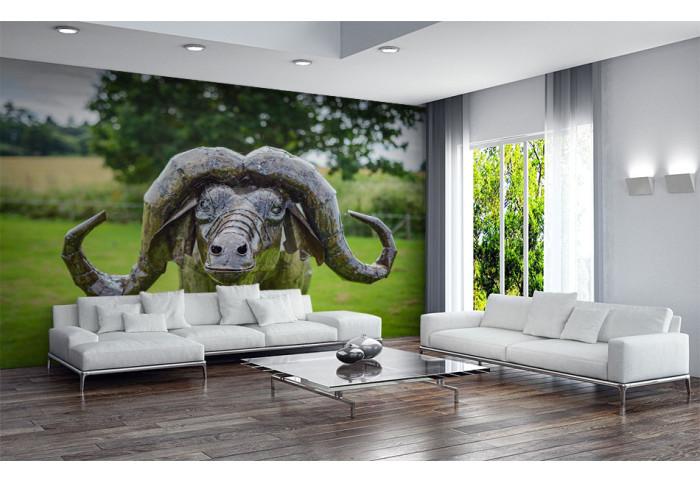 Фототапет Скулптура африкански бивол