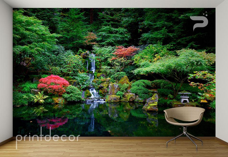 Японска градина с водопад