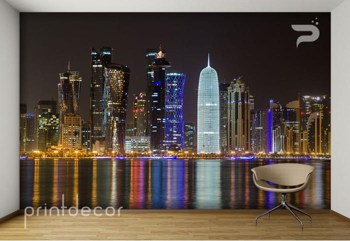 Нощен излгед към Доха