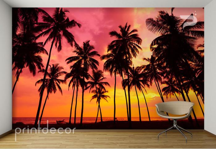 Залез над палмите