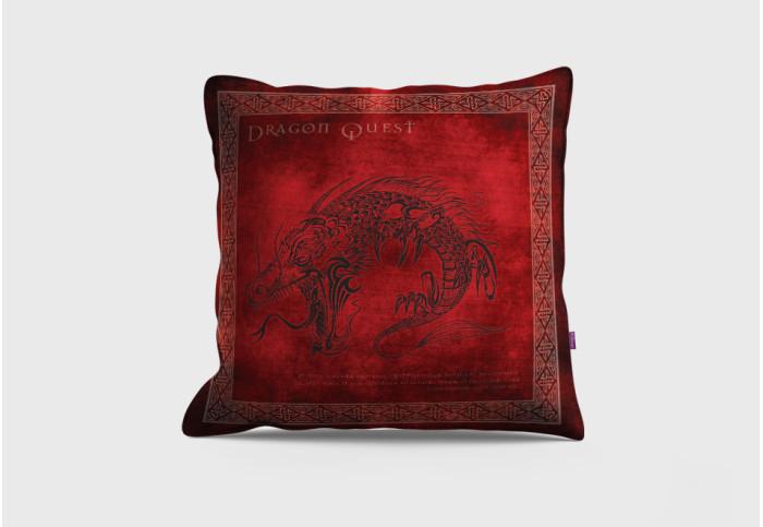 """Декоративна възглавница """"Червен дракон"""""""
